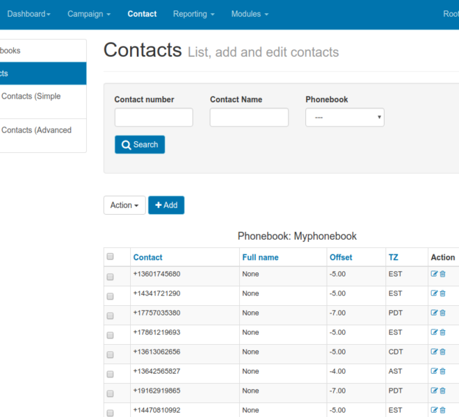 dialerai contact list