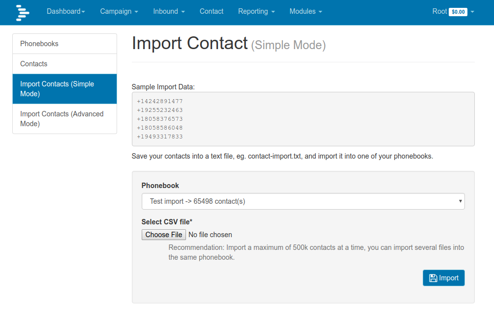 DialerAI Simple Import