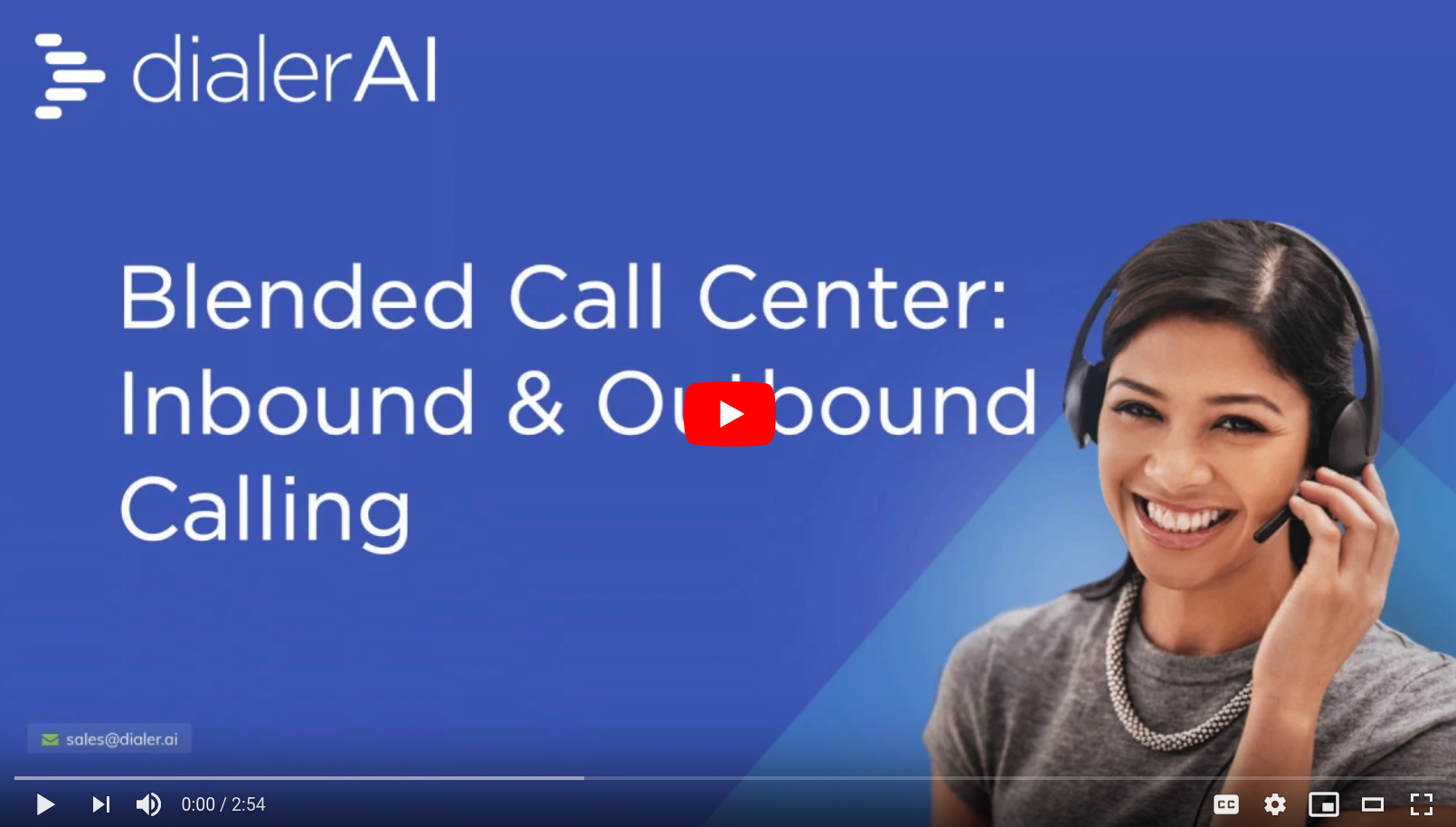 blended call-center campaign